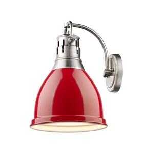 Golden Lighting Duncan Red Pewter Steel 1-light Wall Sconce