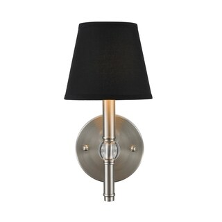 Golden Lighting Waverly Pewter 1 Light Wall Sconce With Tuxedo Shade