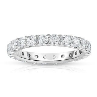 Noray Designs 14k White Gold 1 7/8ct to 2 1/3ct TDW Diamond Eternity Band. (G-H, SI1-SI2)
