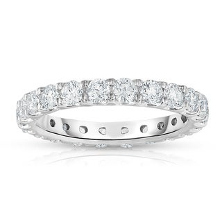 Noray Designs 14k White Gold 1 7/8ct to 2 1/3ct TDW Diamond Eternity Band.