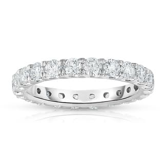 Noray Designs 14k White Gold 1 7/8ct to 2 1/3ct TDW Diamond Eternity Band.|https://ak1.ostkcdn.com/images/products/13305208/P20012757.jpg?impolicy=medium
