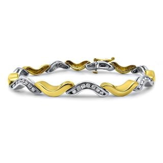 Noori 14k Yellow and White Gold 1ct TDW White Diamond Bracelet (H-I, SI2-I1)