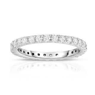 Noray Designs 14k White Gold 7/8ct TDW Diamond Eternity Ring