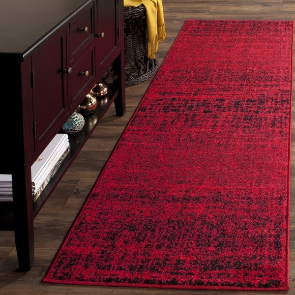 Safavieh Adirondack Modern Abstract Red/ Black Runner Rug (2'6 x 10')