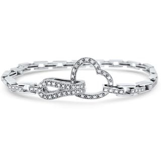 Noori 14k White Gold 1 1/6ct TDW White Diamond Heart Bracelet (G-H, I1-I2)