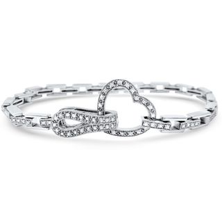 Noori 14k White Gold 1 1/6ct TDW White Diamond Heart Bracelet
