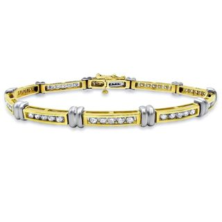 Noori 14k Yellow Gold 2ct TDW Round Diamond Bracelet