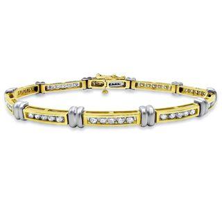 Noori 14k Yellow Gold 2ct TDW Round Diamond Bracelet (J-K, I1-I2)