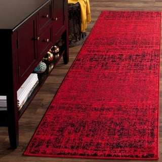 Safavieh Adirondack Modern Abstract Red/ Black Runner Rug (2' 6 x 18')