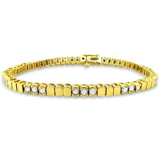Noori 14k Yellow Gold 2 1/10ct TDW Round Diamond Bracelet (H-I, SI2-I1)