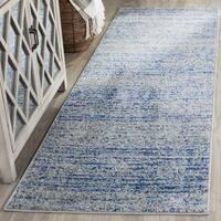 Safavieh Adirondack Modern Blue/ Silver Runner (2'6 x 20')