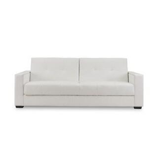 Faenza White Leather Sleeper Sofa