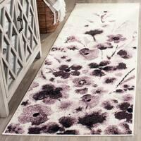 Safavieh Adirondack Vintage Floral Ivory / Purple Rug - 2'6 x 6'