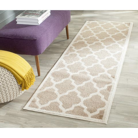 "Safavieh Amherst Indoor/ Outdoor Wheat/ Beige Runner - 2'3"" x 22'"