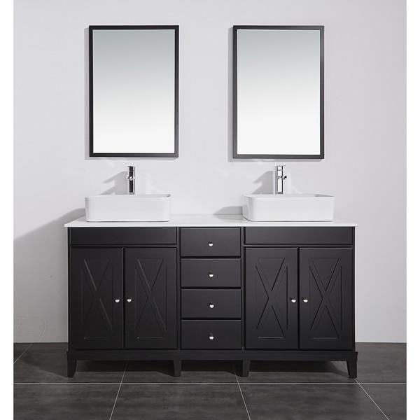 Ove Decors Aspen 60 In Double Sink Bathroom Vanity