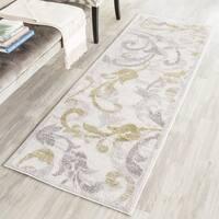 Safavieh Amherst Indoor/ Outdoor Ivory/ Light Grey Runner Rug