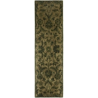 Safavieh Antiquity Traditional Handmade Olive/ Green Wool Runner (2' 3 x 12')