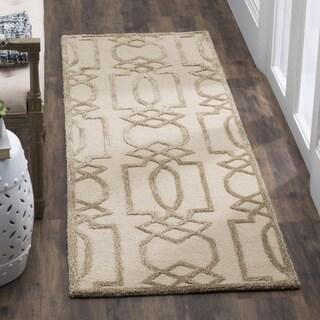 Safavieh Hand-Woven Bella Sand/ Brown Wool Runner (2' 3 x 7')