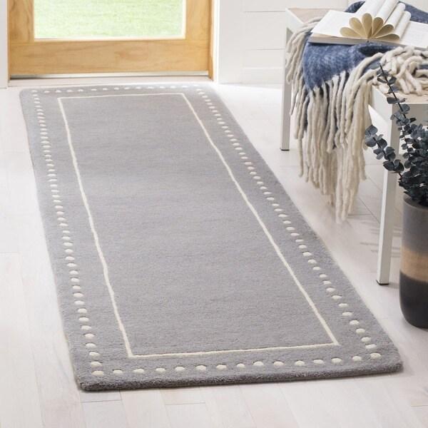 cc1282cbf Shop Safavieh Hand-Woven Bella Silver  Ivory Wool Runner - 2 3
