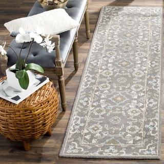Safavieh Blossom Handmade Traditional Grey Wool Runner (2' 3 x 12')