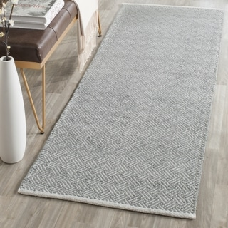 Safavieh Boston Contemporary Grey Cotton Runner (2' 3 x 11')