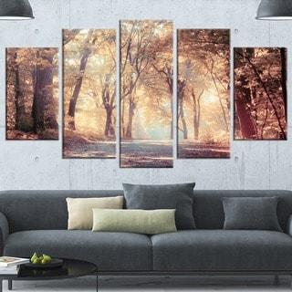 Designart 'Golden Autumn Beautiful Forest' Landscape Artwork Canvas Print