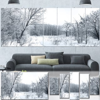Designart 'Beautiful Winter Panorama' Landscape Artwork Canvas Print