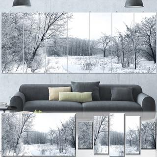 Designart 'Beautiful Winter Panorama' Landscape Artwork Canvas Print