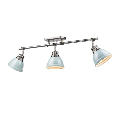Golden Lighting Duncan Seafoam Pewter 3-light Semi Flush Mount Track Light