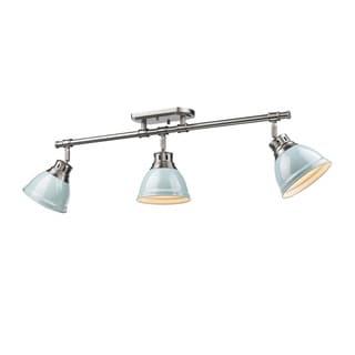 Link to Golden Lighting Duncan Seafoam Pewter 3-light Semi Flush Mount Track Light Similar Items in Track Lighting