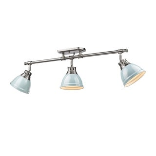 Golden Lighting Duncan Seafoam Pewter 3-light Semi Flush Mount Track Light