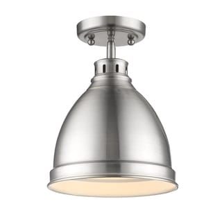 Golden Lighting Duncan Chrome-finished Steel/Pewter/Brass Flush Mount Pendant Fixture
