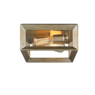 Golden Lighting Smyth White Gold Flush-mount Light Fixture
