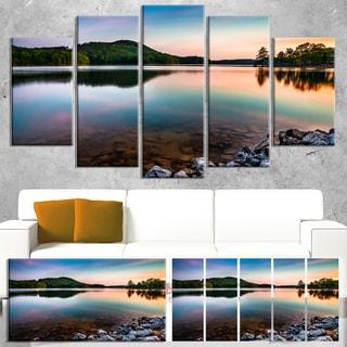 Designart 'Lake Allatoona at Red Top Mountain' Large Seashore Canvas Artwork Print