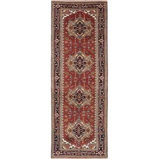 Ecarpetgallery Serapi Heritage Blue, Brown Wool Rug (3'1 x 9'11)