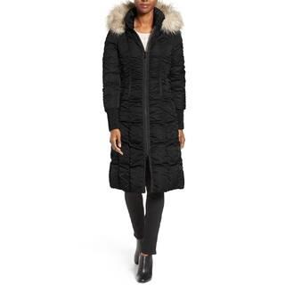 T. Tahari Women's Elizabeth Black Ruched Puffer Coat|https://ak1.ostkcdn.com/images/products/13306697/P20014132.jpg?impolicy=medium