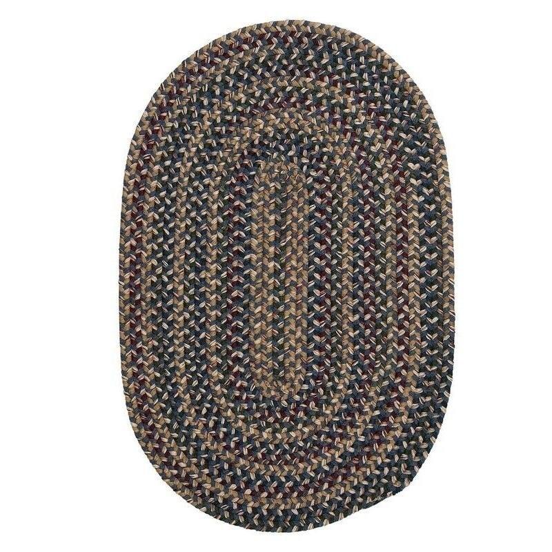 Wool Pn21 Pea Blue Braided Rug