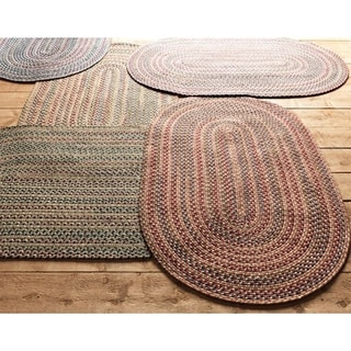 Colonial Mills Comfort Multicolor Wool/Nylon Braided Rug (6' x 8')