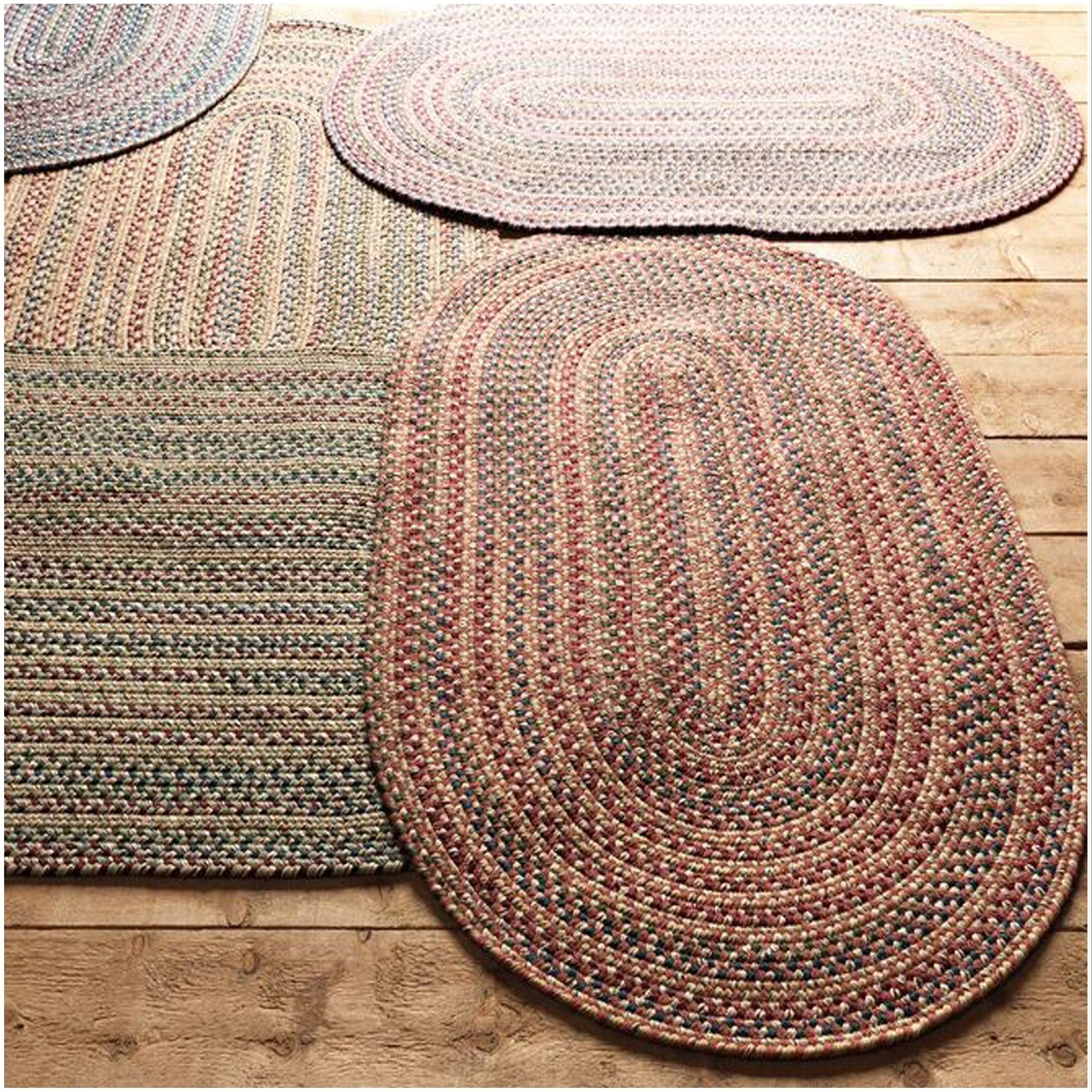 Braided Rug Houston 5x7 Rosewood Red