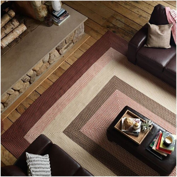 Boulder Cabin Indoor/Outdoor Braided Reversible Rug USA MADE - 8 x 10