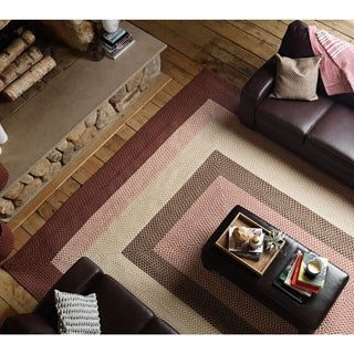 Colonial Mills Boulder Cabin Multicolored Polypropylene Braided Rug (4' x 6')