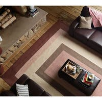 Boulder Cabin Multicolor Braided Reversible Rug USA MADE - 4' x 6'