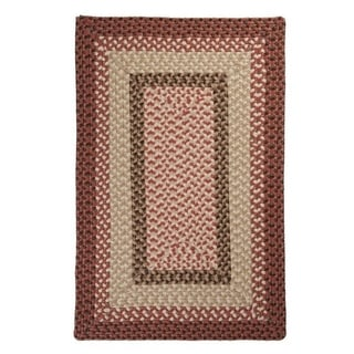 Boulder Cabin Multicolor Indoor/Outdoor Braided Rug USA MADE (Rustic Red 9 x 12)