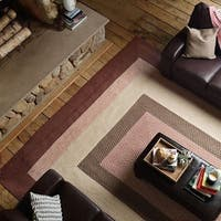 Boulder Cabin Multicolor Braided Reversible Rug USA MADE - 3' x 5'