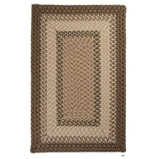Boulder Cabin Multicolor Indoor/Outdoor Braided Rug USA MADE (Sherwood 2 x 4)