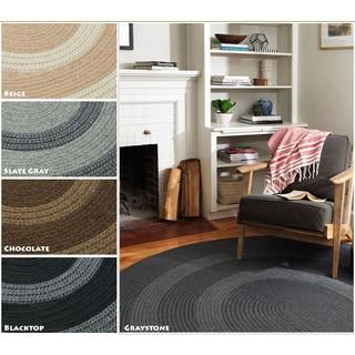Colonial Mills Banded Wool, Polypropylene Braided Rug (6' x 9')