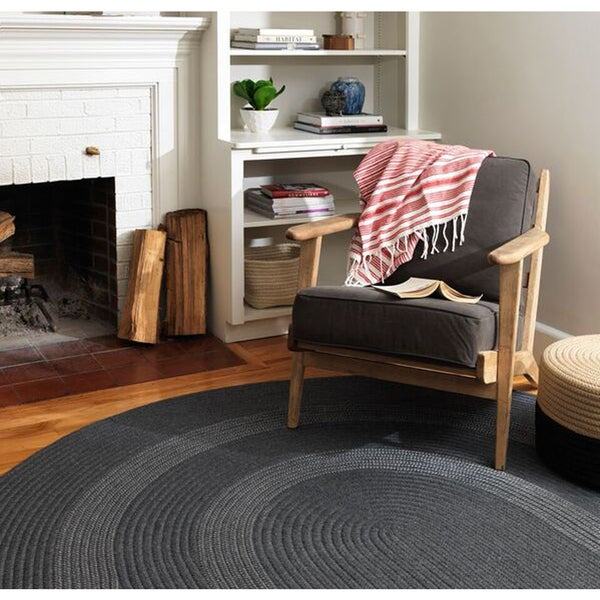 Banded Wool Braided Reversible Rug USA MADE - 9' x 12'