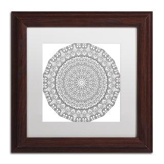 Kathy G. Ahrens 'Hearts Mandala' Matted Framed Art