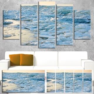 Designart 'Baltic Sea Winter Landscape' Landscape Artwork Canvas Print