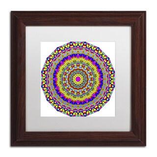 Kathy G. Ahrens 'Hearts Mandala Glowing' Matted Framed Art